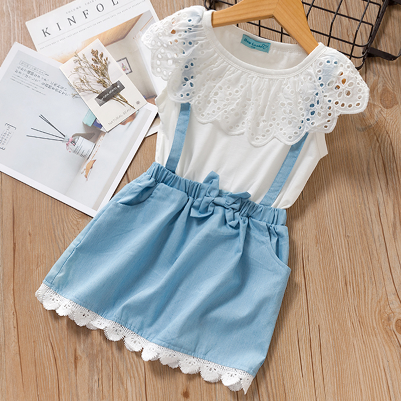 H54be41355d674b7aa7838a66b8b6e8e3s Menoea Girls Suits 2020 Summer Style Kids Beautiful Floral Flower Sleeve Children O-neck Clothing Shorts Suit 2Pcs Clothes