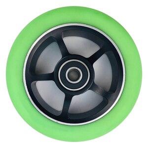 Image 4 - 2 peças/lote 88a 100mm rodas de scooter com rolamentos de liga de aço roda hub alta elasticidade e precisão velocidade patinação roda a116