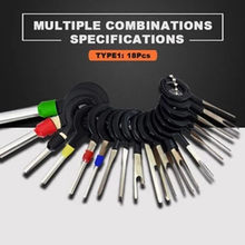 18PCS New Car Plug Terminal Removal Electrical Wiring Crimp Connector Pin Extractor Kit Automobiles Terminal Repair Hand Tools(China)