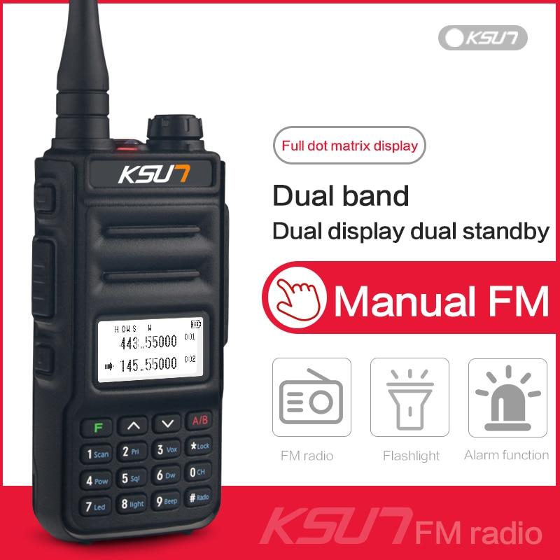 Walkie Talkie KSUN KS-UV2D 8W High Power Dual Band Handheld Two Way Ham Radio Communicator HF Transceiver Amateur Handy