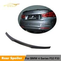 For BMW 4 Series F32 F33 Sedan Convertible 2014 2019 Rear Trunk Spoiler Boot Wing Lip Carbon Fiber