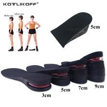 Palmilha invisível do aumento da altura para pés 3/5/7/9cm altura elevador ajustável corte sapato calcanhar inserção altura mais alta palmilha para sapatos
