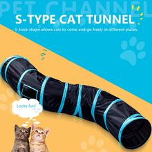 Cat Toy S-Type Cat Tunnel Foldable Cat Channel Cat Rolling Dragon Cat Bell Ball Pompom Toy Pet Supplies Fast Shipping 8in1 cat stain and odor exterminator nm jfc s