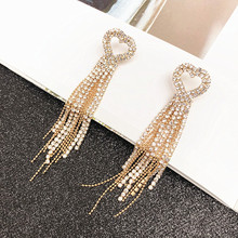 Fringed Exaggerated Earrings Female 925 Silver Needle Temperament Long Dangle