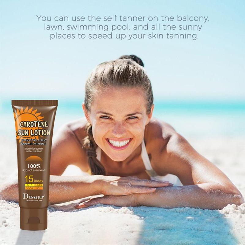 Tanning Cream Beauty Black Cream Body Lotion Black Nutrition Sunscreen Black Tanning Nutrition Skin Moisturizing Helping Su S9R5