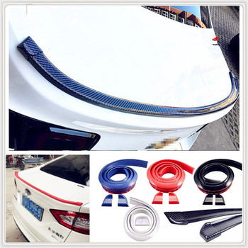 Car auto Rubber tail Rear Spoiler Wing for BMW all series 1 2 3 4 5 6 7 X E F-series E46 E90 F09 Scooter Gran i8 Z4 X5 X4 image