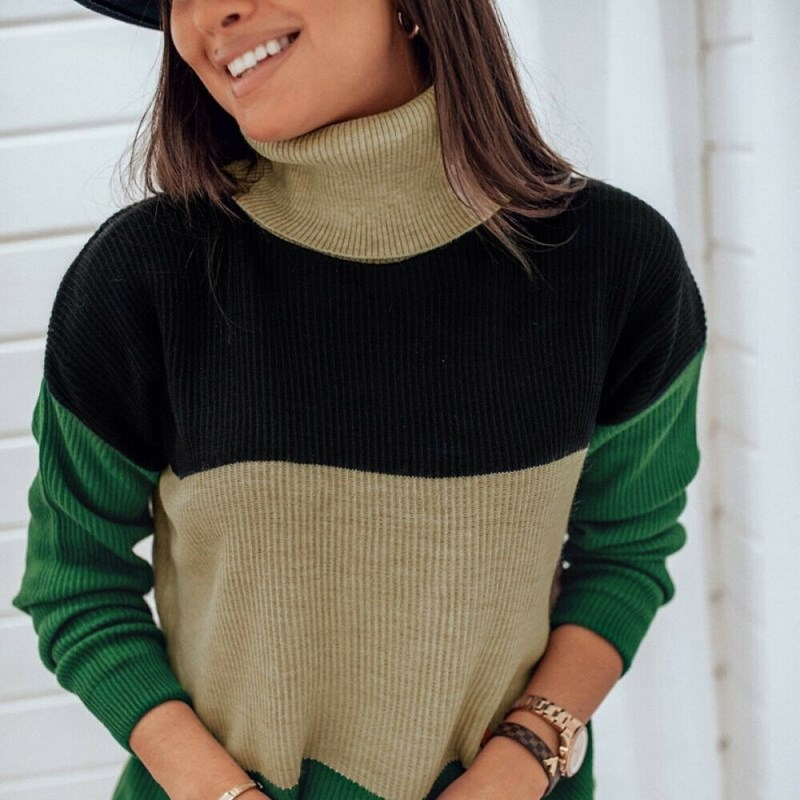 Womens Knitted Sweater Pullover Jumper Tops Sweatshirt Long Sleeve Casual Blouse