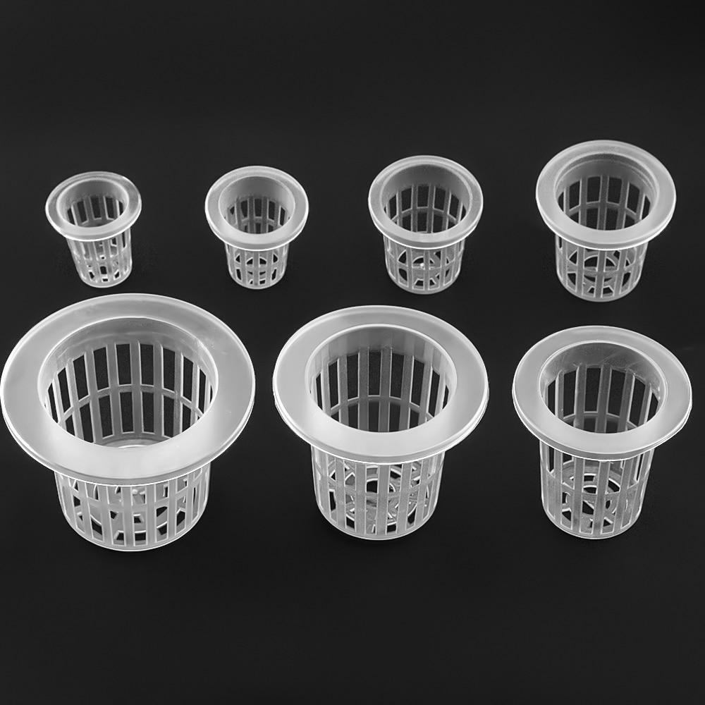 10Pcs Hydroponic Colonization Mesh Pot Net Cup Basket Hydroponic Aeroponic Planting Grow Clone Nursery Plant Soilless