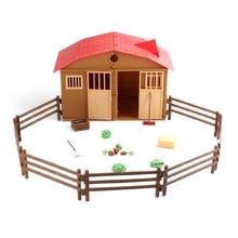 1 компл. Моделирование фермы ранчо домик забор DIY песок стол сцена модель игрушки Дети литье DIY Дом игрушка