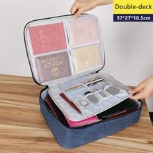 Bolsa de documentos de gran capacidad, Cartera de pasaporte de viaje, organizador de tarjetas, negocio de los hombres, paquete de almacenamiento impermeable, artículo de accesorios para el hogar