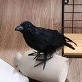 Schwarz Crow Halloween Film Prop Cosplay Kunststoff Künstliche Vogel Charme Jagd Lockvögel Home Garten Ornamente Haunted Haus Dekor