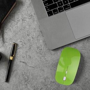 Image 4 - Kebidumei 2.4Ghz USB optik kablosuz fare fare süper ince ince fare oyun alıcısı Mini Macbook PC Laptop için bilgisayar