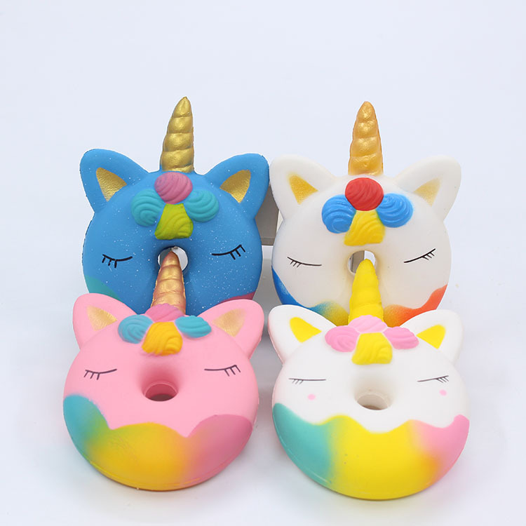 Tress Relief Toy Squeeze Toys Spot Unicorn Donut Squishy Slow Rebound Toy PU Simulation Donut Decompression Furniture Decoration