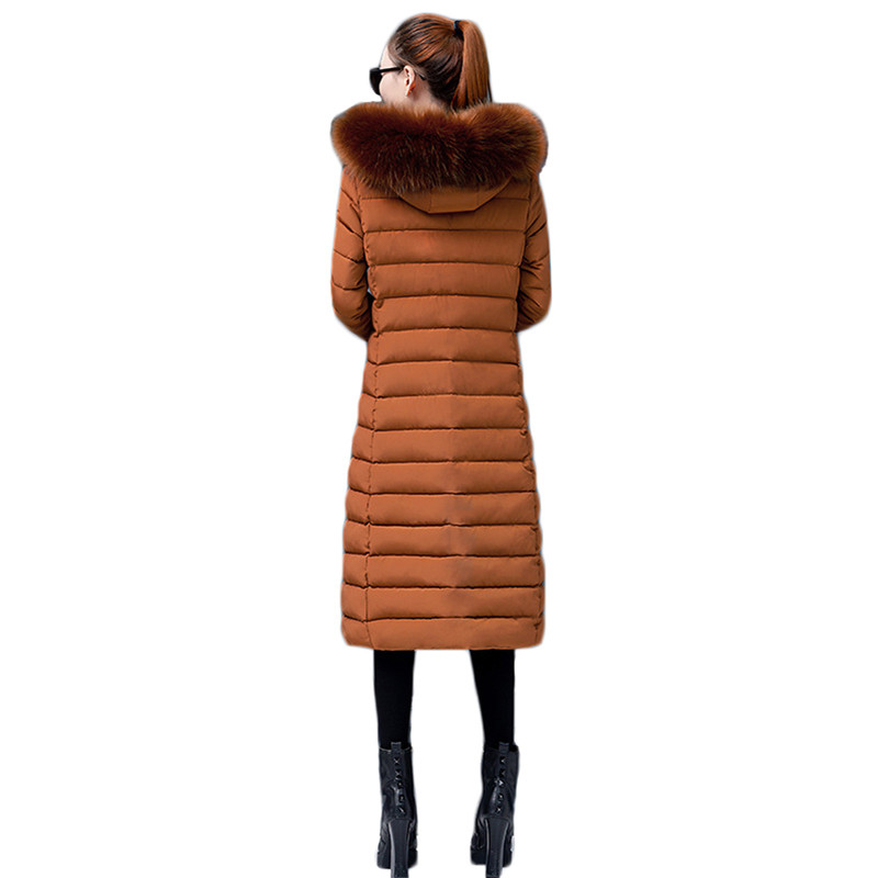 Winter Coat Women Caramel Pink Gray Black M 4XL Plus Size Loose Korean Big Fur Collar Hooded Parka Warmth Jacket Clothing LD1158 in Parkas from Women 39 s Clothing