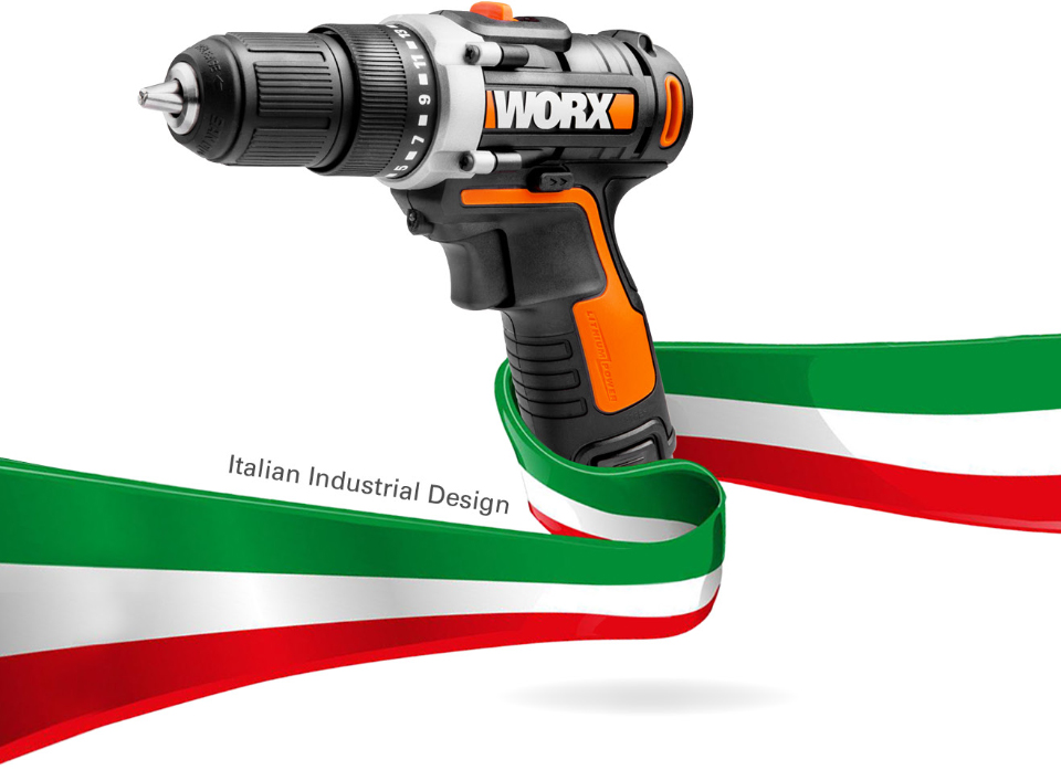 Worx 12V Electric Drill Driver Italian Industrial Design