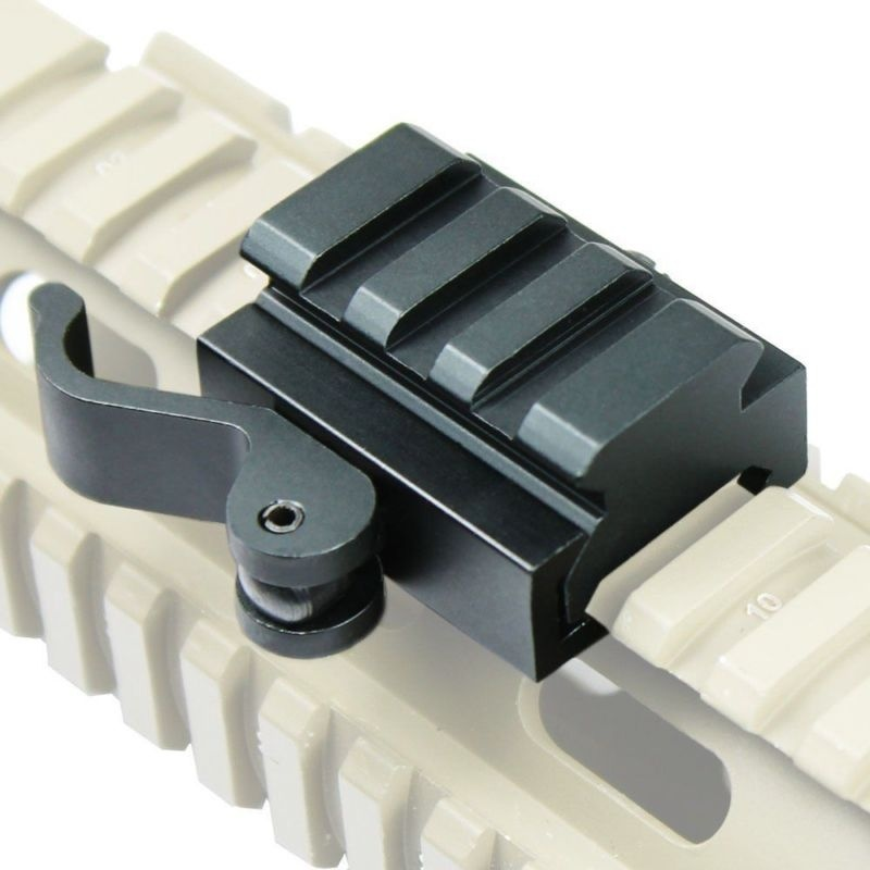 Tactical Compact QD Quick Release Picatinny Weaver Rail Rifle Scope Mount Picatinny Rail Base
