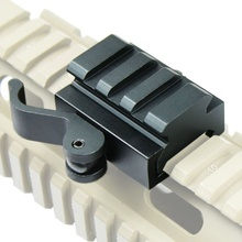 Tactical Compact QD Quick Release Picatinny Weaver Rail Rifle Scope Mount Picati