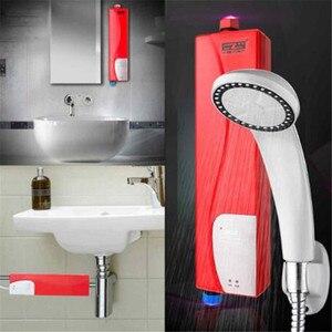 Image 4 - Anında elektrikli Mini haznesiz su ısıtıcı sıcak ani su isıtıcı sistemi için mutfak banyo duş 220V 3000W ab tak