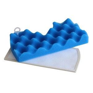 1 conjunto azul esponja filtro + 1 conjunto filtro de poeira para samsung Dj63-00669a Sc43-47 sc4520 sc4740 Vc-9625 Vc-bm620 aspirador d4