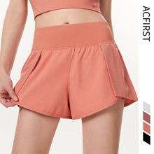 Женские шорты для бега с карманами acfirst розовые дышащие быстросохнущие