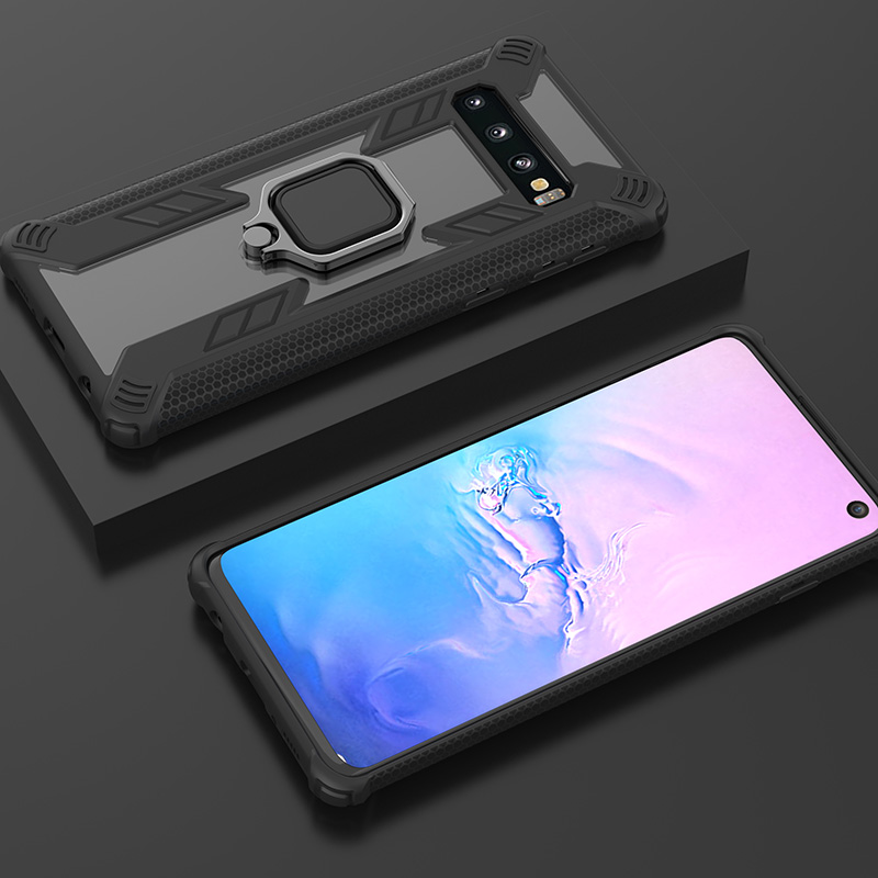 Predator Armor Shockproof Cover For Samsung S10 Case Car Phone Holder Magnetic Ring Bracket Stand Galaxy S10 Plus S10e Fundas