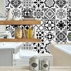 Black white tile sti...