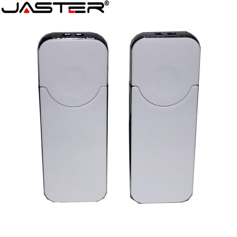 JASTER White  Business USB 64GB UsbUSB Flash Drive Pendrive 128MB 4GB 8GB 16GB 32GB 128GB Gift (10pcs Free LOGO) Custom Made