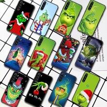 G-Grinch Stole Christmas Cartoon Phone Case For XIAOMI Redmi 8 9 9C Note 6 7 8 9 9S K20 K30 K40 Pro Plus black Hoesjes Fashion