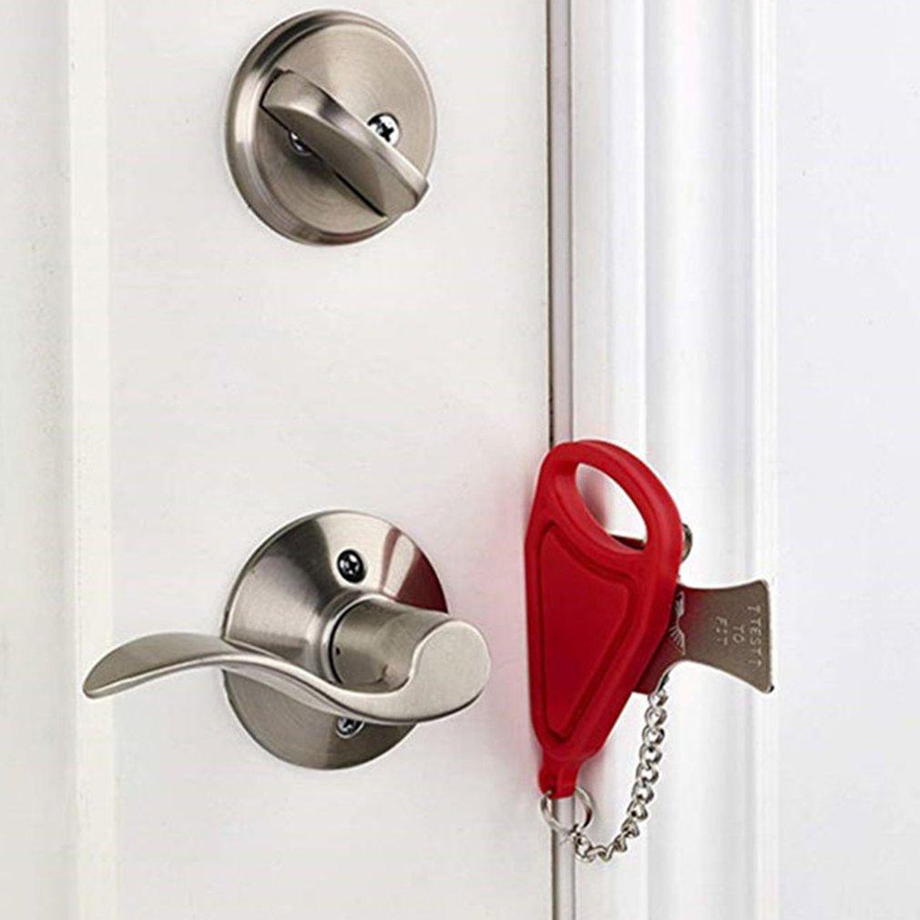 Portable Hotel Door Lock Locks Self-Defense Door Stop Travel Travel Accommodation Door Stopper Door Lock
