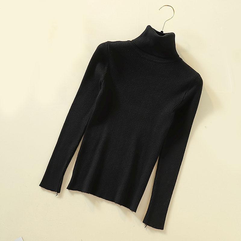 Lucyever Turtleneck Women Pullover Sweater Spring Jumper Knitted Basic Top Fashion Autumn Long Sleeve Korean Ladies Clothes 2020 3
