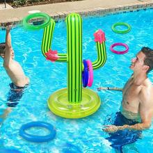 Toys For Girls Outdoor Swimming Pool New PVC Inflatable Cactus Ring Ice Game Toys Beach Set Supplies Travel Party Bar Floating P