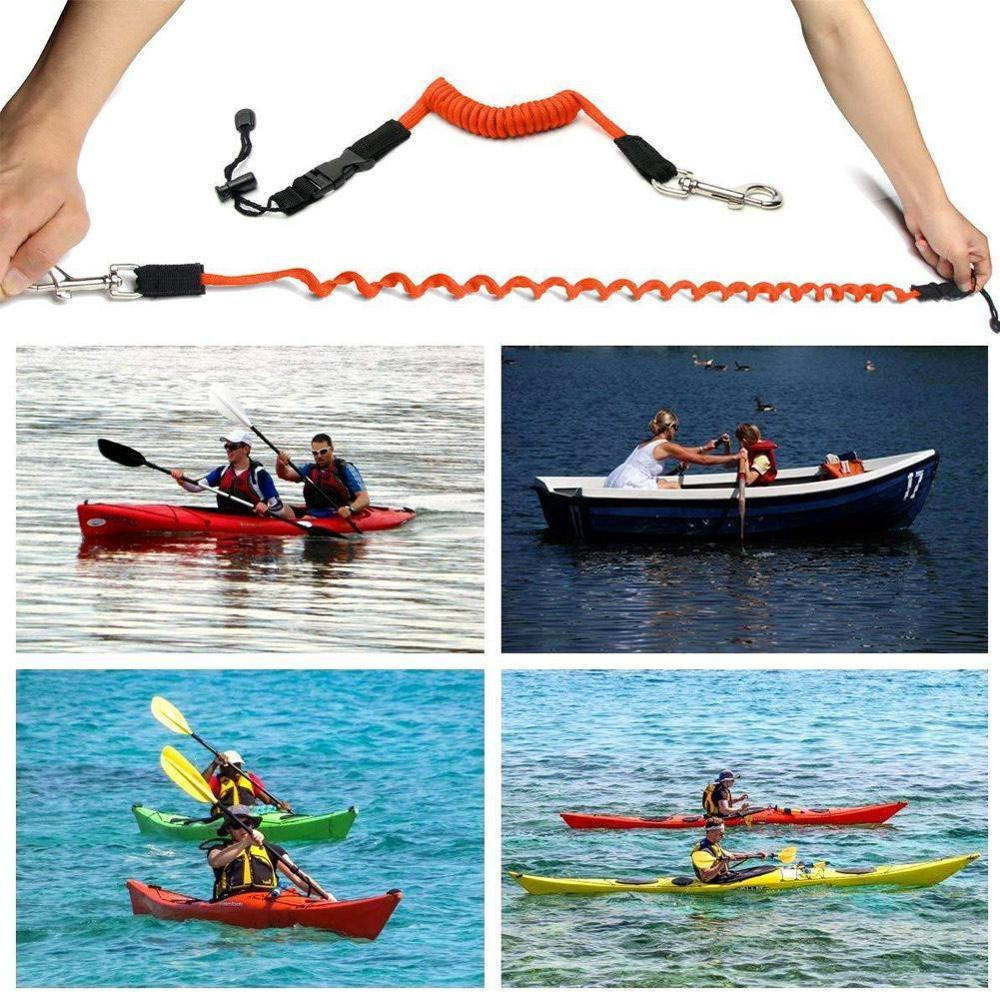 140cm Elastic Kayak Canoe Safety Paddle Leash for Kayaking Canoeing Paddling