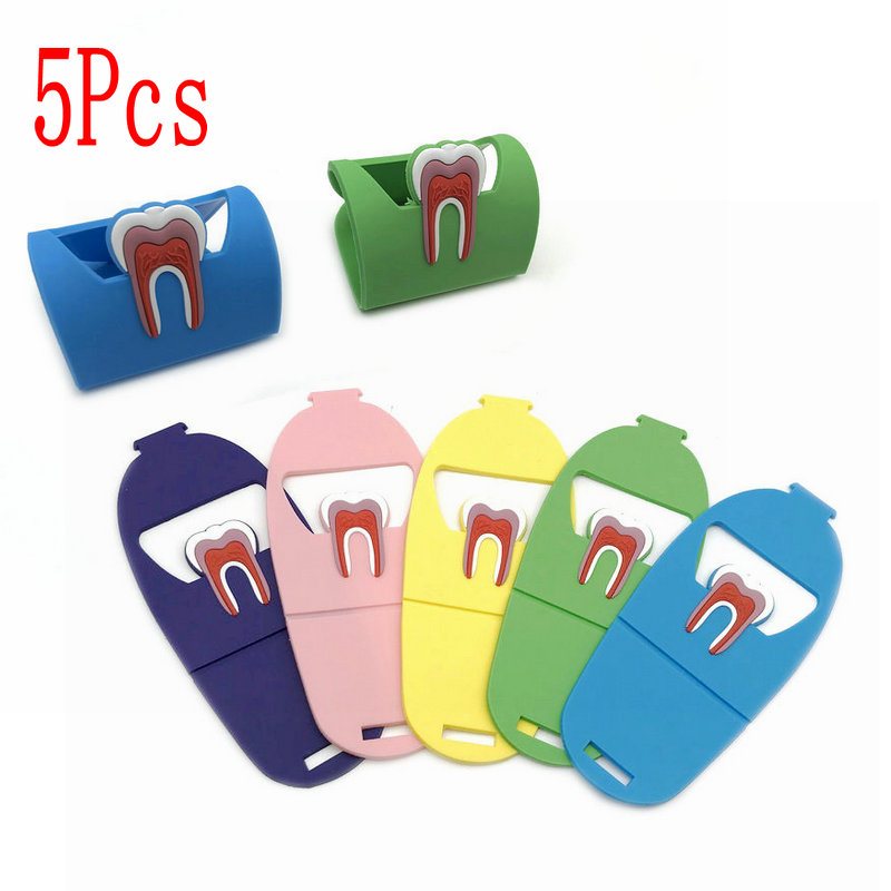5pcs Dentist Gift Cute Dental Card Holder Colorful Rubber Teeth Molar Shape Phone Card Name Storage Dsiaply Stand For Clinic