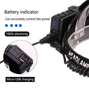 Image 5 - ほとんどの強力な XHP90.2 Led ヘッドランプ 8000LM ヘッドランプ USB 充電式ヘッドライト防水 Zooma 集魚灯使用 18650 バッテリー
