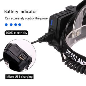 Image 5 - أقوى XHP90.2 Led كشافات 8000LM رئيس مصباح USB قابلة للشحن المصباح مقاوم للماء Zooma مصباح الصيد استخدام 18650 بطارية