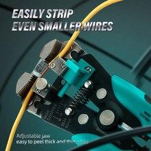 Cabo de fio descascador cortador peeling alicate multitool automático ajustável friso ferramentas crimper terminal 0.2-6mm2 AWG22-10