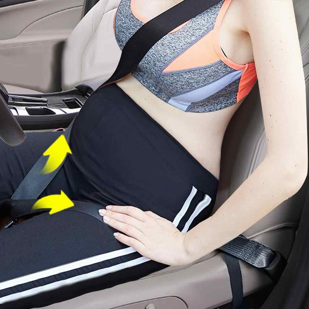 Pregnancy Car Seat Belt Bump Belt Adjuster Comfort and Safety Maternity Driving Straps with Super Soft Car Seat Belt Pad Cover for Mommy