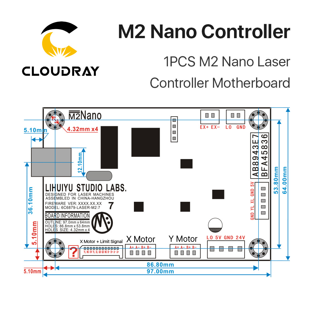 Image 5 - Cloudray LIHUIYU M2 Nano Laser Controller Mother Main Board + Control Panel + Dongle B System Engraver Cutter DIY 3020 3040 K40-in CNC Controller from Tools