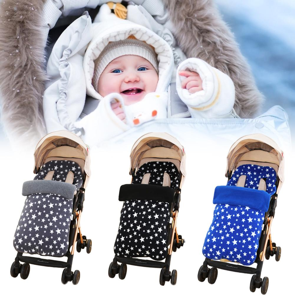 Baby Stroller Warm Foot Cover Baby Carriage Thick Fleece Wool Autumn Winter Car Windproof Foot Cover Anti-kick Sleeping Bag