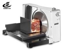Elektryczny krajalnica do żywności dla gospodarstw domowych owoce plasterki jagnięce Shred Cut maszyna do strugania mięsa regulowana grubość