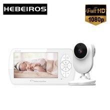 Hebeiros 1080P 4,3 дюйма цветной видеоняня, аккумулятор, Wi-Fi камера безопасности, функция ночного видения, обнаружение температуры