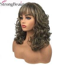 StrongBeauty damskie długie kręcone zalety peruki peruka syntetyczna Capless Hair