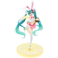 18CM Original Taito Action Figure Anime Vocaloid Miku Figure PVC Model Doll Toys Kawaii Hatsune Miku Spring Dress Figurals