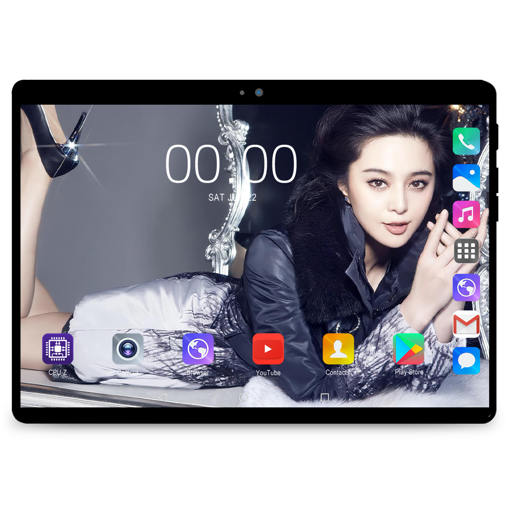 10.1 pouces tablette PC 3G/4G Android 9.0 Octa Core Super tablettes Ram 6G ram + 128G rom WiFi GPS 10 tablette IPS 1280*800 double SIM GPS