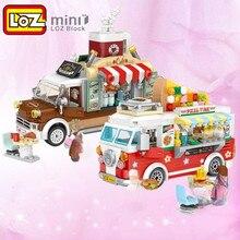 LOZ nowy produkt montaż budynku mini blok model samochodu pizza autobus samochód streetmini dzieci zabawka dla dorosłych prezent
