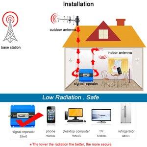 Image 2 - 2G Vollen Satz GSM 900 mhz Handy Signal Booster LCD Display GSM 900 besser anruf Handy Cellular Repeater verstärker + Antenne