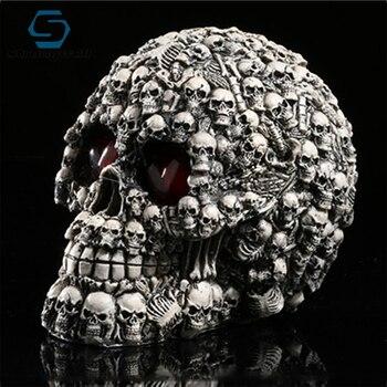 Strongwell Skull Head Skull Statue Skull Decoration Skull Decor Resin Skull Home Decoration Skull Ornament Bar Halloween Terror фото