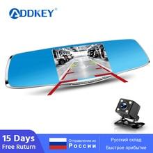ADDKEY Full HD 1080P Автомобильный видеорегистратор Камера регистратор 4,3 дюймов зеркало заднего вида цифровой видеорегистратор двойной объектив регистратор видеокамера