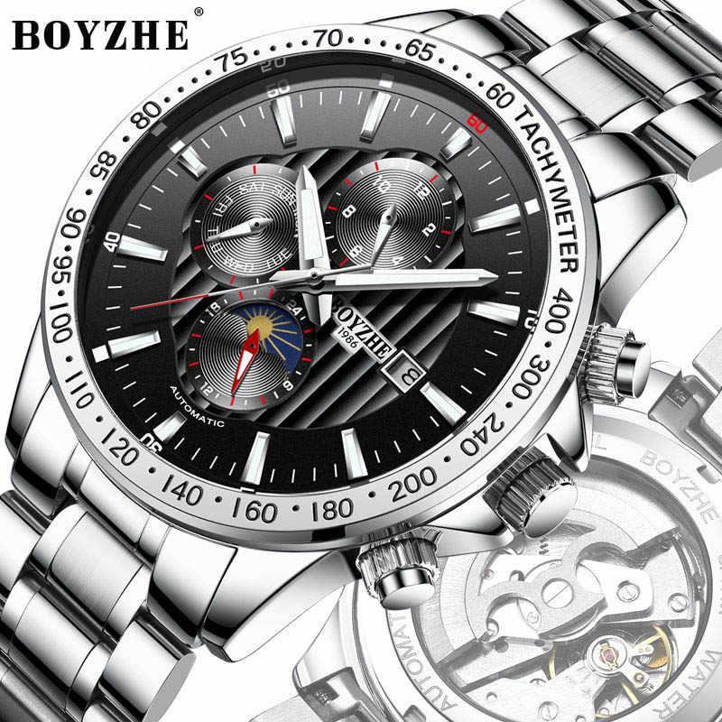 Relogio Masculino 2019 мужские часы лучший бренд класса люкс автоматические механические часы мужские стальные деловые водонепроницаемые спортивные часы
