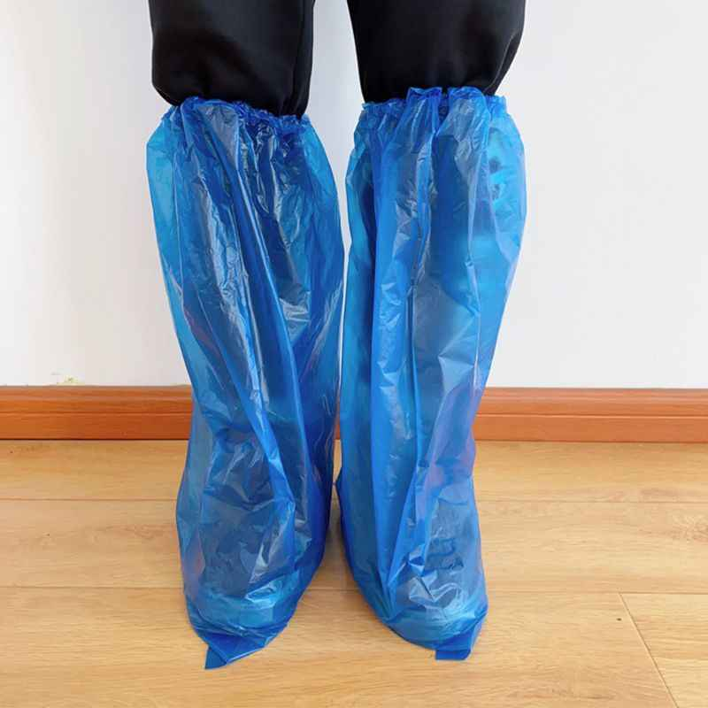 Blue Disposable Shoe Cover Rainy Day Rain Shoes Cases Useful Plastic Shoe Cover